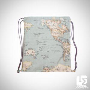 Mochila Saco Mapa Mundi Complemento de Moda